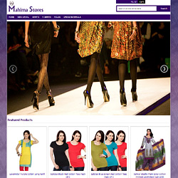 Ecommerce Website for mahima stores
